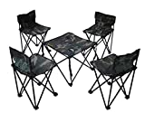 JaHGDU Portable Folding Tables and Chairs Casual Breathable Convenient Five Sets of Outdoor Tables and Chairs Picnic Table Coffee Table