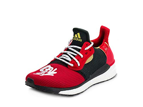 adidas Men's Pharrell x Solar Hu Glide ST 'Chinese New Year' Red EE8701 (Size: 8.5)