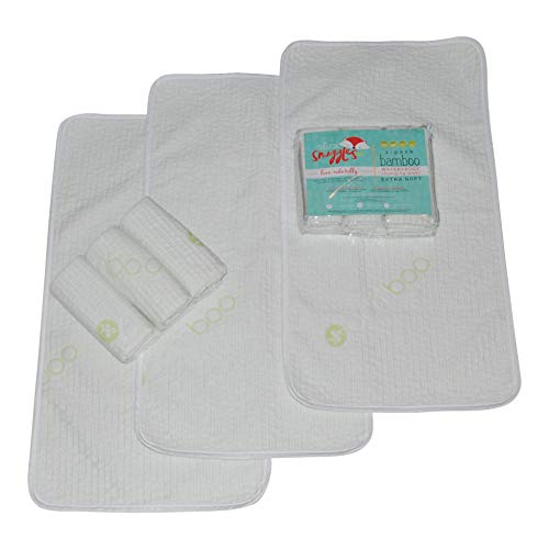 Waterproof Bamboo Changing Pad 3 Pack- Changing Table Protector, Leak-Proof Coverup- Extra Soft Hypoallergenic- Eco-Friendly Stain Protector Absorbent and Perfect Baby Shower Gift!