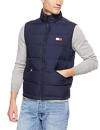 TOMMY HILFIGER Men's Nylon Down Vest, Navy Blazer, Small