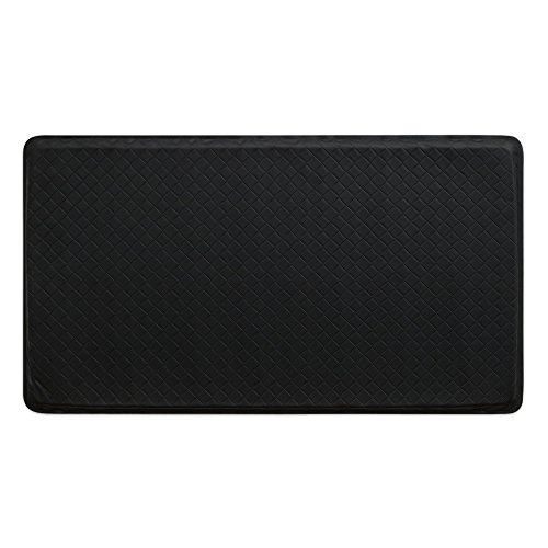 """GelPro Classic Anti-Fatigue Kitchen Comfort Chef Floor Mat, 20x36"""", Basketweave Black Stain Resistant Surface with 1/2"""" Gel Core for Health and Wellness by GelPro"""