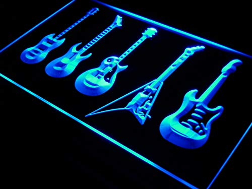 ADVPRO s091-b Guitars Weapon Band Bar Beer Neon Light Sign (Guitar Sign Neon)