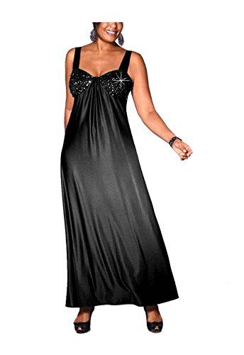 Perlen M 46 Kleid I Größe Abend mit M Damen Schwarz Polyester Kleid schwarz in 0xf4wX5P