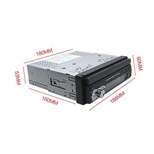 Single DIN In Dash Car Stereo Head Unit w/ 7inch Flip Out Touch Screen Monitor w/Radio Bluetooth Camera MP3