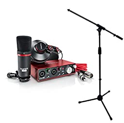 Focusrite Scarlett 2i2 Studio 2ND GENERATION 2 in / 2 out USB 2.0 Recording Interface w/ Mic Stand
