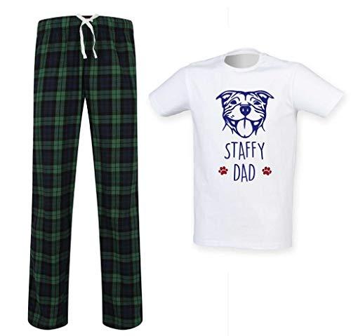 60 Limited Écossais Ensemble Makeover Bull Vêtements Papa Staffy Pères Vert Pyjama Pet Cadeau Terrier Des Second Hommes Staffordshire Fête SEwrpYqS