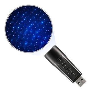 BlissLights Starport USB Laser Star Projector for Game Room Decor, Bedroom Night Light, or Galaxy Mood Lighting Ambiance (Blue)