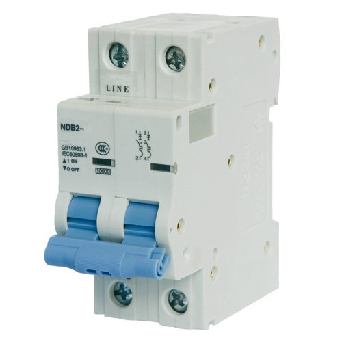 ASI NDB2-63C40-2 DIN Rail Mount Circuit Breaker, UL 1077 Supplemental Protection, 40 amp, 2 Pole, 240/480V, General Purpose Trip Curve C