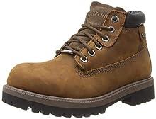 Skechers USA Men's Verdict Men's Boot,Dark Brown,9.5 EW US