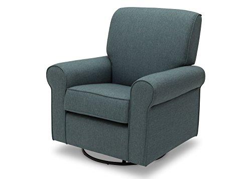 Delta Children Avery Upholstered Glider Swivel Rocker Chair, Lagoon -