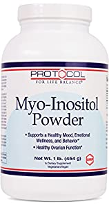 Protocol For Life Balance - Myo-Inositol Powder - Supports a Healthy Mood, Emotional Wellness, Behavior and Ovarian Function - 1lb. (454 g)