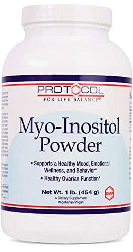 Protocol For Life Balance - Myo-Inositol Powder - Supports a Healthy Mood, Emotional Wellness, Behavior and Ovarian Function, Energy Boost, Sleep Support - 1lb. (454 g)