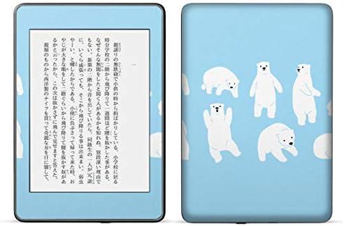 igsticker kindle paperwhite 第4世代 専用スキンシール キンドル ペーパーホワイト タブレット 電子書籍 裏表2枚セット カバー 保護 フィルム ステッカー 016437 シロクマ 動物