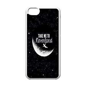 Wlicke take me to Neverland Customised Durable Iphone 5c Case, High Quality Protective Phone Case for Iphone 5c with take me to Neverland