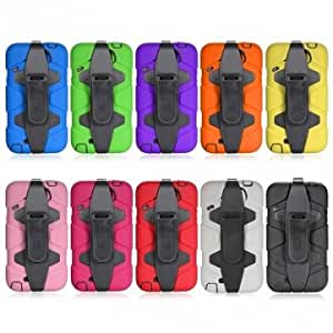 Shockproof Heavy Duty Case Military Durable For Samsung Galaxy Note2 -*- Color -- Purple