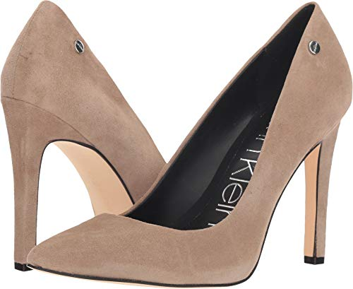 Calvin Klein Women's Brady Tobacco Suede 6 M - Brown Womens Suede Pumps