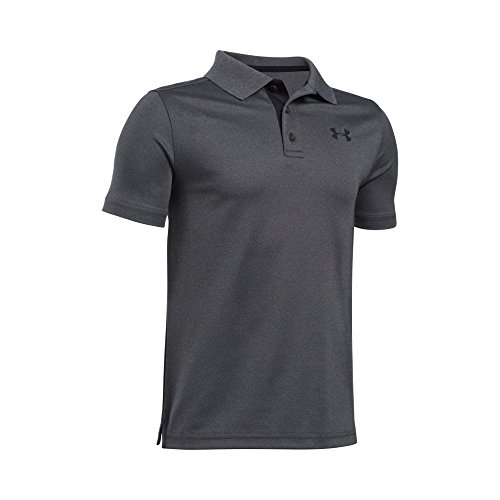 Carbon Match - Under Armour Boys' Match Play Polo Shirt, Carbon Heather/Black, Youth Large