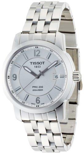 Tissot Men's T014.410.11.037.00 PRC 200 Silver Dial Stainless-Steel Bracelet Watch