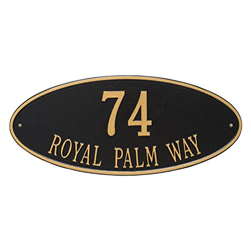 Oval Estate Wall Plaque - 9