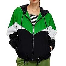 HTHJSCO Womens Lightweight Raincoat Hooded Waterproof Active Outdoor Rain Jacket