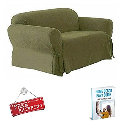 Amazon.com: Couch Slipcover 2 Cushion Sofa Cover Living Room ...