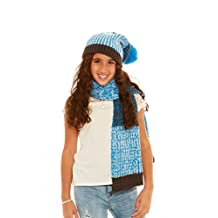 Crush Girls Winter Classic Cable Knit Hat & Scarf Sets