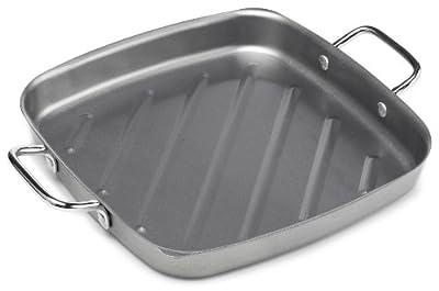 Bull 24120 11-Inch Non-Stick Square Grill Pan, Silver