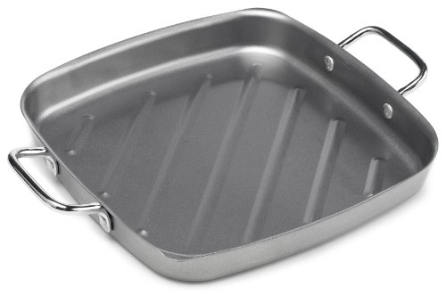 Bull 24120 11-Inch Non-Stick Square Grill Pan, Silver (Outdoor Grill Pans Small compare prices)