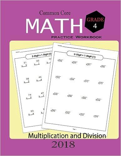 Amazon Common Core Math Practice Workbook Grade 4 Math Skills