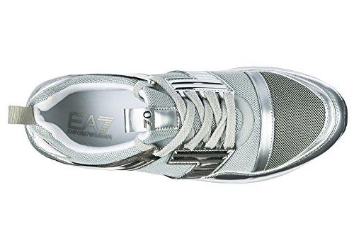 Emporio Armani EA7 Damenschuhe Damen Schuhe Sneakers Turnschuhe Grau