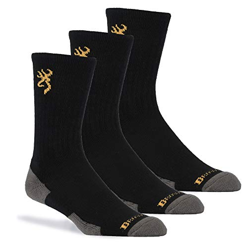 Browning Men's Everyday Crew Sock | Black | 3-Pack from Browning
