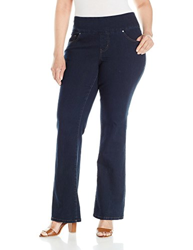 Jag Jeans Women's Plus Size Paley Boot Pull on Jean, After Midnight, 18W