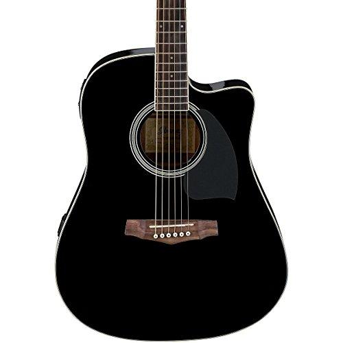 buy ibanez pf15ece dreadnought cutaway acoustic electric cutaway guitar black at guitar center. Black Bedroom Furniture Sets. Home Design Ideas