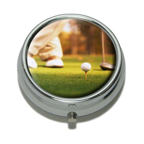 Golf Ball Club - Golfing Pill Case Trinket Gift Box