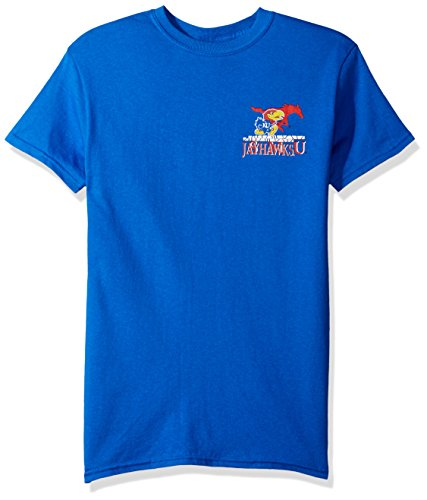 NCAA Kansas Jayhawks Team Mosaic Short Sleeve Shirt, XX-Large, Royal