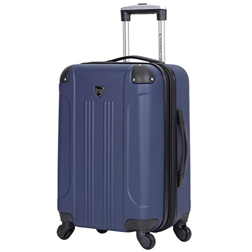 Cobalt Blue Travelers Club 20 Chicago Expandable Spinner Carry-On Luggage