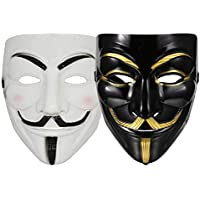 FAVELA Plastic Fawkes Mask Anonymous VIP Edition Face-Mask Perfect Fit Cosplay Protest V for Vendetta DC Comics (769737082740)