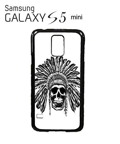skull-indian-chief-native-festival-mobile-cell-phone-case-samsung-galaxy-s5-mini-white