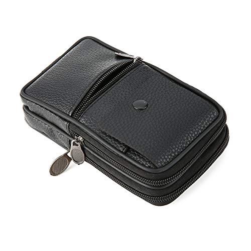 Bolsas De Multifuncional Para Del Hombres La Cintura Bolso Los Paquete Acampar Viaje Excursión Teléfono Heaviesk Negro Pu Yendo Cuero 5Pqpwz6