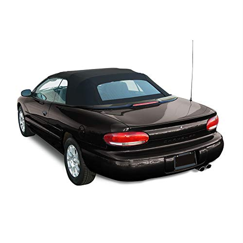 (Compatible: Chrysler Sebring Convertible Soft Top & Heated Glass window Black Sailcloth 1996-2006)