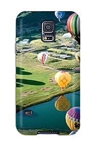 Galaxy High Quality Tpu Case Air Balloon Festival2 Case Cover For Galaxy S5