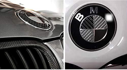 Emblema 74mm para BMW Serie 1 2 3 4 X1 X3 X4 X5 E30 E40 Logo Delantera y Trasera + Llavero de Cuero