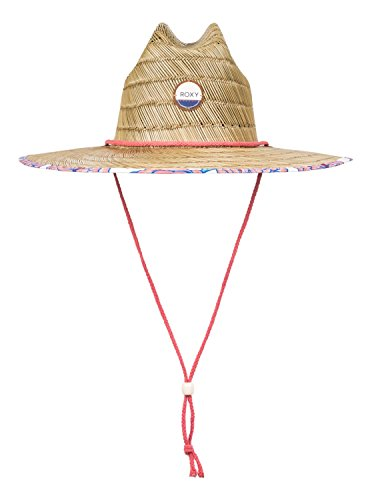 Roxy Womens Roxy Tomboy - Straw Lifeguard Hat - Women - M Marshmallow Mexican Roses M/L