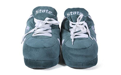 LICENSED OFFICIALLY Sneaker College Slippers Womens Michigan Men's Spartans Happy Feet State NCAA and x41HHq