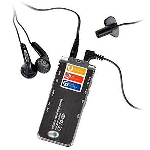Wiiguda@8GB Registratore Audio Digitale USB Registratore Vocale Portatile con Microfono Multifunzionale/&MP3 Lettore con Display LCD