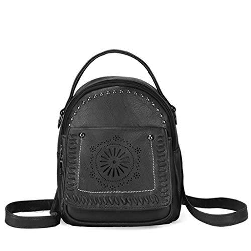 NEEKEY Fashion Women Hollow Out Travel School Bag Cute PU Leather Mini - Monogram Replica Mini