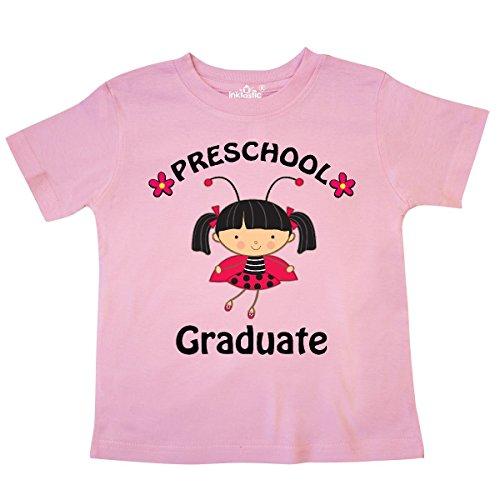 inktastic Preschool Graduate Outfit Girls Toddler T-Shirt 4T Pink 2fa97 (557 Ladybug)