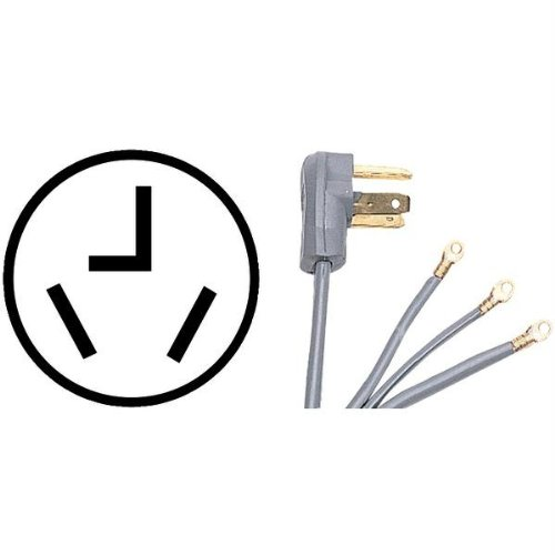 Certified Appliance 90-1028 3-wire Dryer Cord (Prong Design)