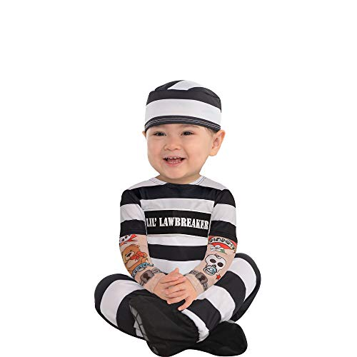 Suit Yourself Lil' Lawbreaker Prisoner Halloween Costume for Babies, 12-24M, Includes Accessories -