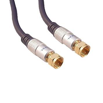 Cable Mountain Deluxe - Cable coaxial RG59 (tipo F, conectores dorados, 3 m